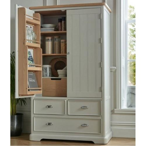 Summertown Painted Grey Furniture Large Double Larder Unit