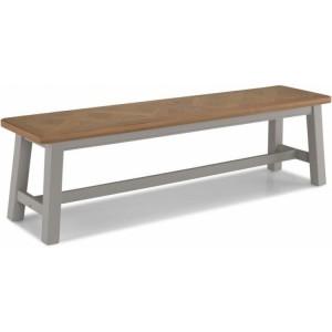 Summertown Painted Grey Furniture Large Rectangular Dining Bench