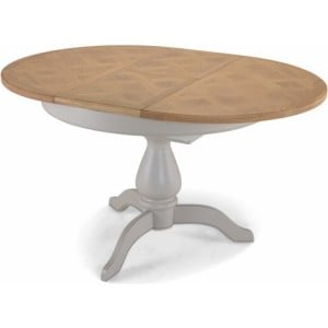 Summertown Painted Grey Furniture Round/ Oval Extending Dining Table
