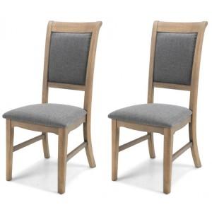 Vezelay Oak Furniture Dining Chair Pair
