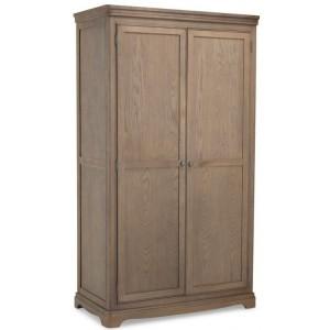 Vezelay Oak Furniture Full Hanging Double Wardrobe