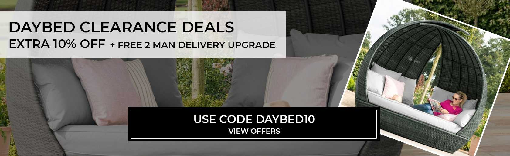 10% off selected day beds