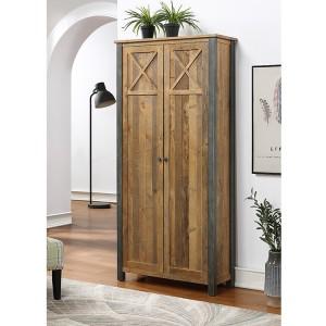 Urban Elegance Reclaimed Wood Furniture Living Room Storage Cabinet