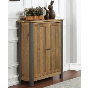 Urban Elegance Reclaimed Wood Furniture Small Shoe Storage Cupboard