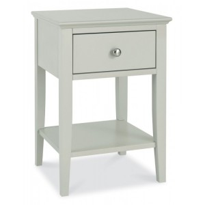 Bentley Designs Ashby Cotton Painted Furniture 1 Drawer Nightstand