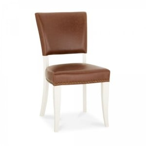 Bentley Designs Belgrave Furniture Tan Upholstered Chair Pair