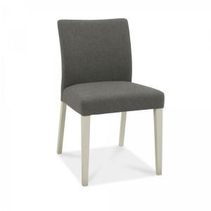 Bentley Designs Bergen Grey Painted Cold Steel Upholstered Chair Pair