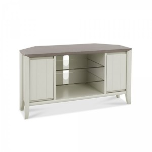 Bentley Designs Bergen Grey Painted Corner Entertainment Unit