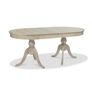 Bentley Designs Bordeaux Chalk Oak 6-8 Extension Dining Table