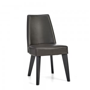 Bentley Designs Brunel Furniture Upholstered Fixed Chair Grey Pair
