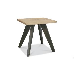 Bentley Designs Cadell Oak Furniture Lamp / Side Table