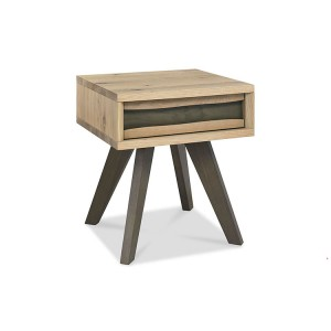 Bentley Designs Cadell Oak Furniture Lamp Table with Drawer