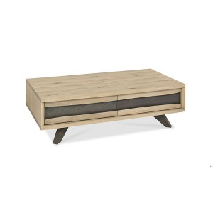Bentley Designs Cadell Oak Furniture Coffee Table with Drawers