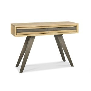 Bentley Designs Cadell Oak Furniture Console Table with Drawers