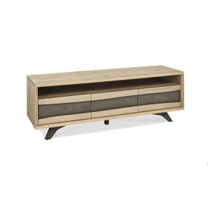Bentley Designs Cadell Oak Furniture 3 Drawer Entertainment Unit