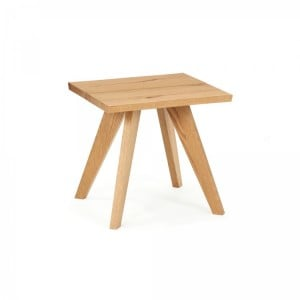 Cadell Rustic Oak Furniture Lamp / Side Table