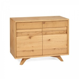 Cadell Rustic Oak Furniture Narrow Sideboard