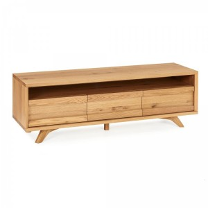 Cadell Rustic Oak Furniture 3 Drawer Entertainment Unit