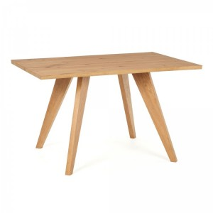 Cadell Rustic Oak Furniture 4 Seater Dining Table