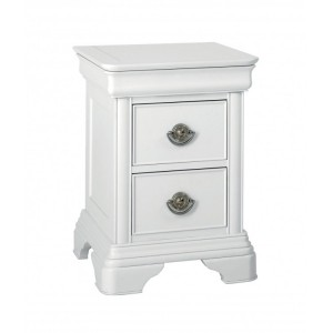 Bentley Designs Chantilly White Furniture 2 Drawer Bedside Cabinet