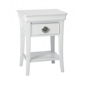 Bentley Designs Chantilly White Furniture 1 Drawer Night Stand
