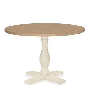 Bentley Designs Chartreuse White Circular Dining Table