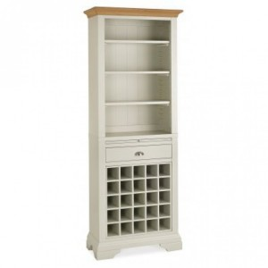 Hampstead Soft Grey & Pale Oak Furniture Wine Rack Dresser