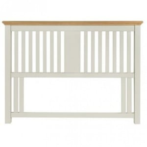 Hampstead Soft Grey & Pale Oak Furniture Kingsize Bed 5ft Headboard
