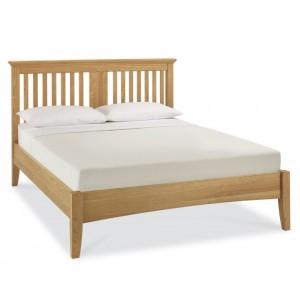 Bentley Designs Hampstead Oak Furniture Slatted Double Bed 4ft 6