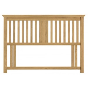 Bentley Designs Hampstead Oak Furniture Slatted Headboard 5ft