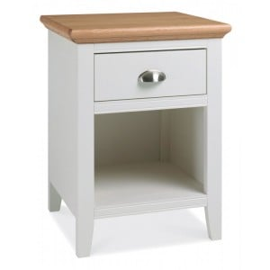 Hampstead Two Tone Painted Furniture 1 Drawer Bedside Cabinet