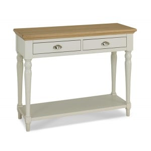 Hampstead Two Tone Painted Furniture Console Table With Turned Legs