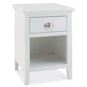 Hampstead White Painted Furniture 1 Drawer Bedside Cabinet