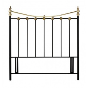 Bentley Designs Ancona Black and Antique Brass Headboard Double 4ft6