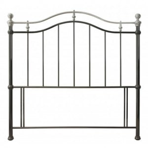 Bentley Designs Chloe Black and Shiny Nickel Headboard Kingsize 5ft