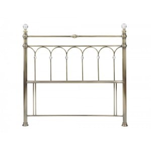 Bentley Designs Krystal Antique Brass Headboard Kingsize 5ft