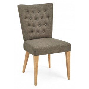 Bentley Designs High Park Furniture Dining Chair Pair Black and Gold