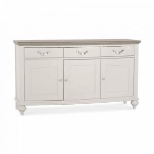 Montreux Grey & Washed Oak Furniture Wide Sideboard - PRE ORDER