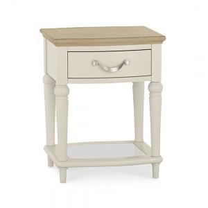 Montreux Oak & Antique White Furniture Lamp Table