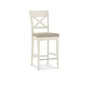 Montreux Oak & Antique White Furniture Bar Stool X Back