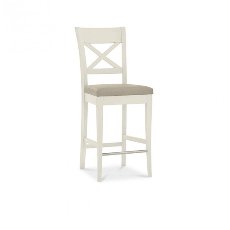 Incredible Montreux Soft Grey Painted Bar Stool X Back Antique White Ncnpc Chair Design For Home Ncnpcorg