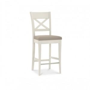 Montreux Soft Grey Painted Furniture Cross Back Bar Stool Soft Grey