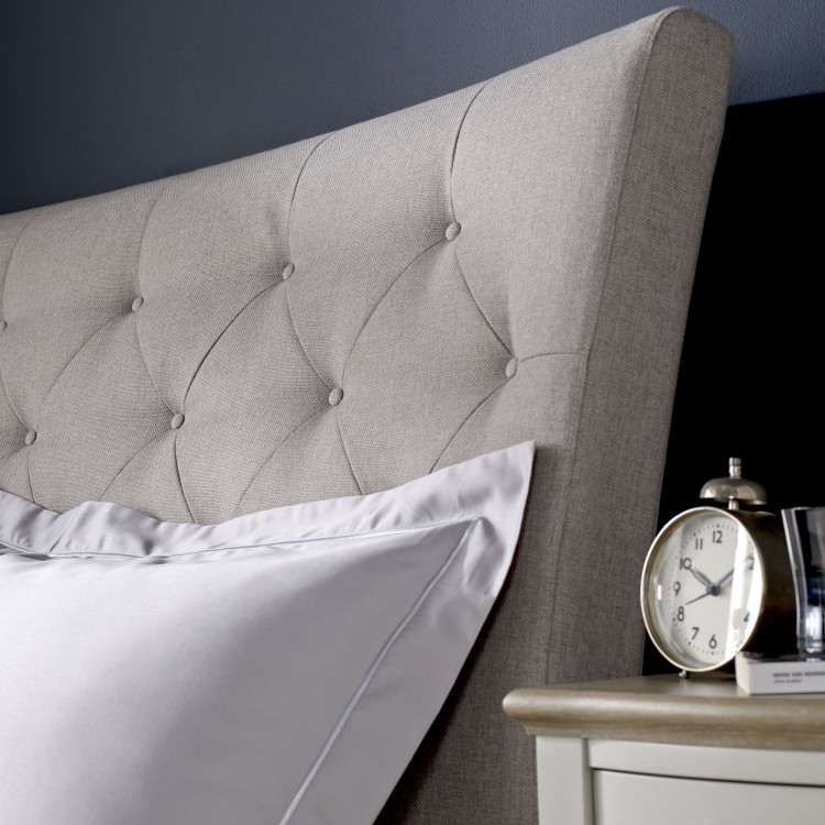 Montreux Soft Grey Painted Furniture Diamond Stitch Bedstead 5ft