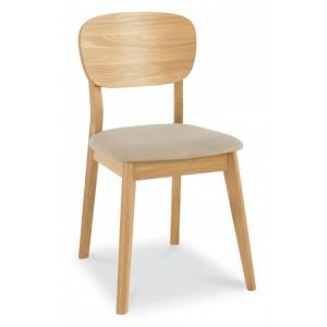 Bentley Designs Oslo Oak Furniture Dining Chair Pair