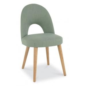 Bentley Designs Oslo Oak Furniture Aqua Upholstered Chair Pair