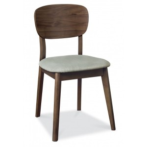 Bentley Designs Oslo Walnut Furniture Dining Chair Pair