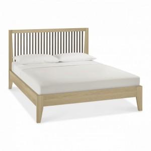 Bentley Rimini Aged & Weathered Oak Furniture Slatted Double Bed