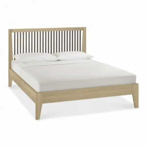 Bentley Rimini Aged & Weathered Oak Furniture Slatted Kingsize Bed