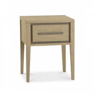 Bentley Rimini Aged & Weathered Oak Furniture 1 Drawer Bedside Table