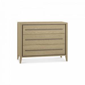 Bentley Rimini Aged & Weathered Oak Furniture 3 Drawer Chest